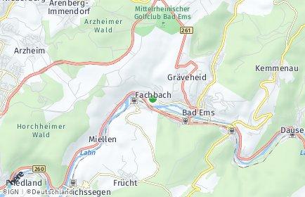 Stadtplan Fachbach