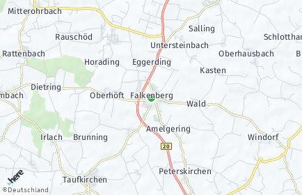 Stadtplan Falkenberg (Niederbayern)