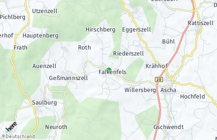 Stadtplan Falkenfels