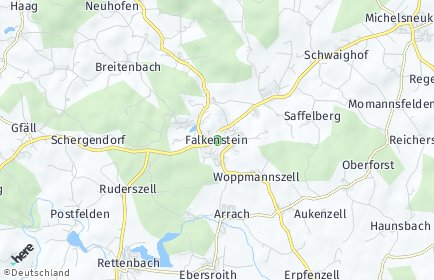 Stadtplan Falkenstein (Oberpfalz)