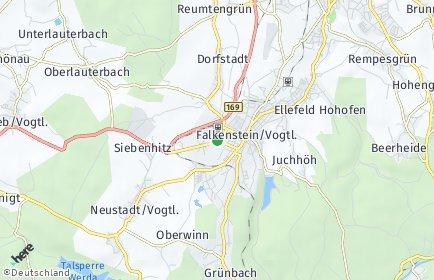 Stadtplan Falkenstein (Vogtland)