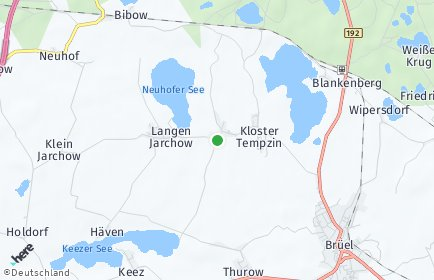 Stadtplan Kloster Tempzin