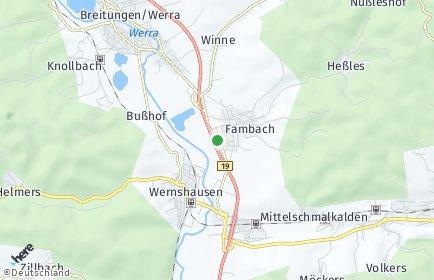 Stadtplan Fambach