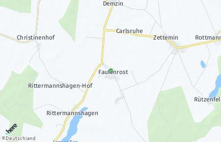 Stadtplan Faulenrost