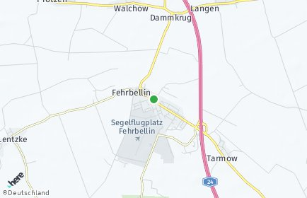 Stadtplan Fehrbellin