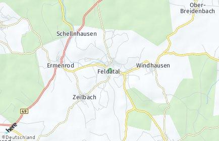 Stadtplan Feldatal