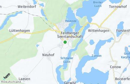 Stadtplan Feldberger Seenlandschaft