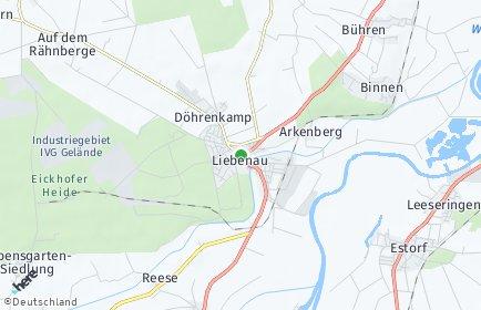 Stadtplan Liebenau (Niedersachsen)
