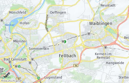 Stadtplan Fellbach