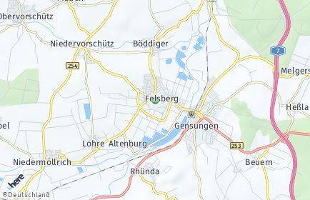 Stadtplan Felsberg