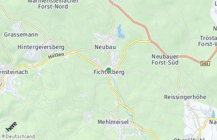 Stadtplan Fichtelberg