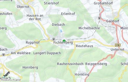 Stadtplan Fichtenberg