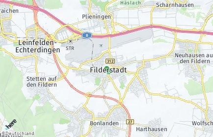 Stadtplan Filderstadt