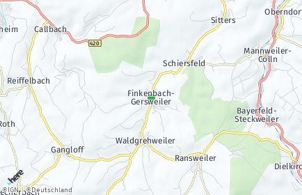 Stadtplan Finkenbach-Gersweiler