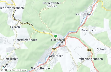 Stadtplan Fischbach bei Idar-Oberstein