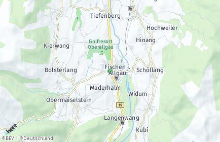 Stadtplan Fischen im Allgäu