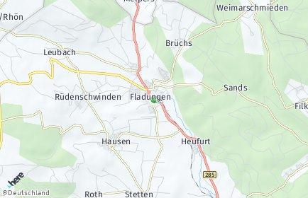 Stadtplan Fladungen