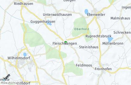 Stadtplan Fleischwangen