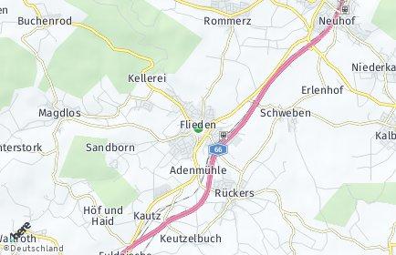 Stadtplan Flieden OT Kautz