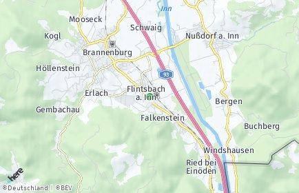 Stadtplan Flintsbach am Inn OT Asten am Inn