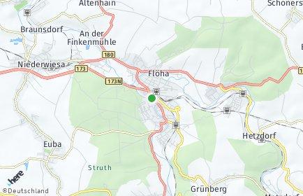 Stadtplan Flöha