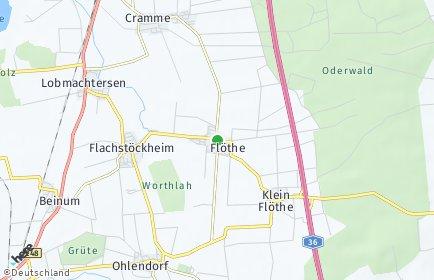 Stadtplan Flöthe