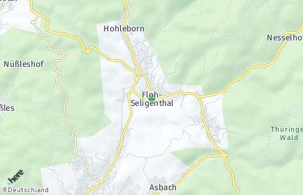 Stadtplan Floh-Seligenthal
