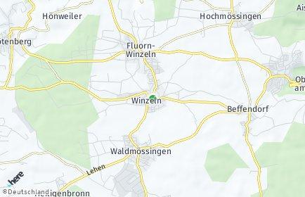 Stadtplan Fluorn-Winzeln