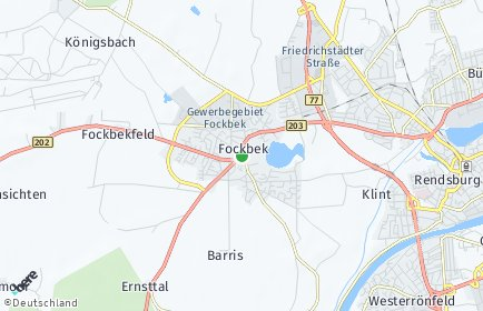 Stadtplan Fockbek