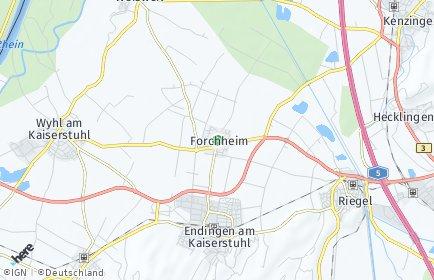 Stadtplan Forchheim (Kaiserstuhl)