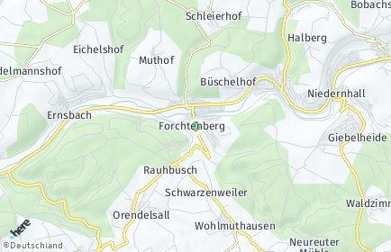 Stadtplan Forchtenberg