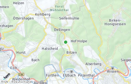 Stadtplan Forst bei Wissen