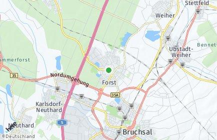 Stadtplan Forst (Baden)