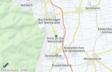 Stadtplan Forst an der Weinstraße