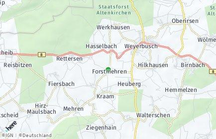 Stadtplan Forstmehren