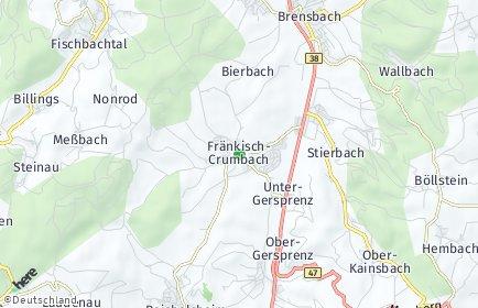 Stadtplan Fränkisch-Crumbach