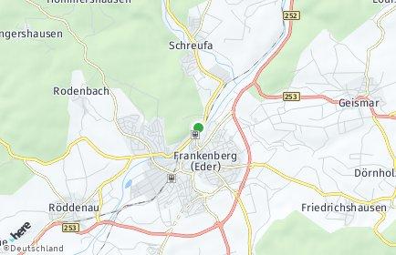 Stadtplan Frankenberg (Eder)