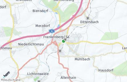 Stadtplan Frankenberg/Sachsen OT Langenstriegis