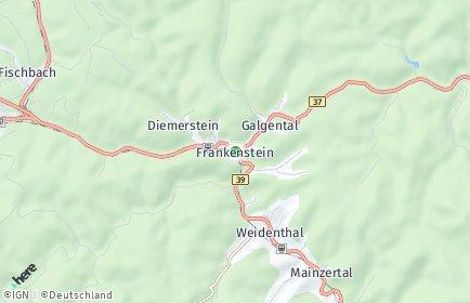 Stadtplan Frankenstein