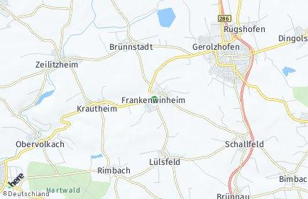 Stadtplan Frankenwinheim