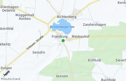 Stadtplan Franzburg