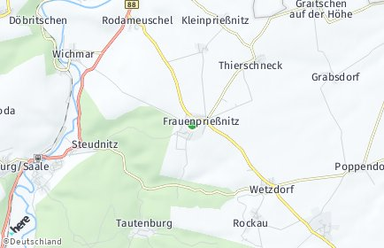 Stadtplan Frauenprießnitz