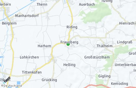 Stadtplan Fraunberg OT Thalheim