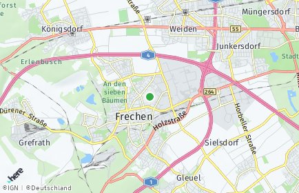 Stadtplan Frechen