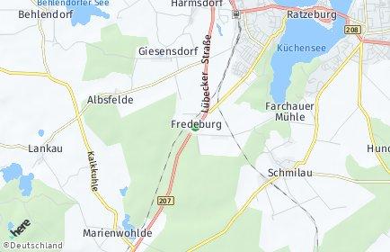 Stadtplan Fredeburg