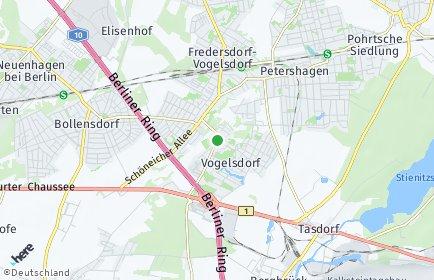 Stadtplan Fredersdorf-Vogelsdorf