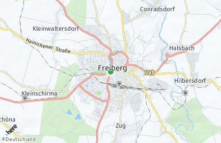 Stadtplan Freiberg