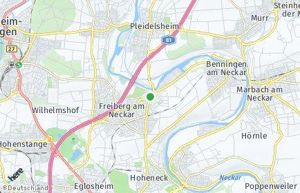 Stadtplan Freiberg am Neckar