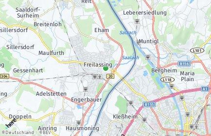 Stadtplan Freilassing