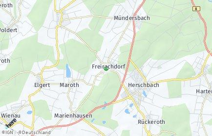 Stadtplan Freirachdorf